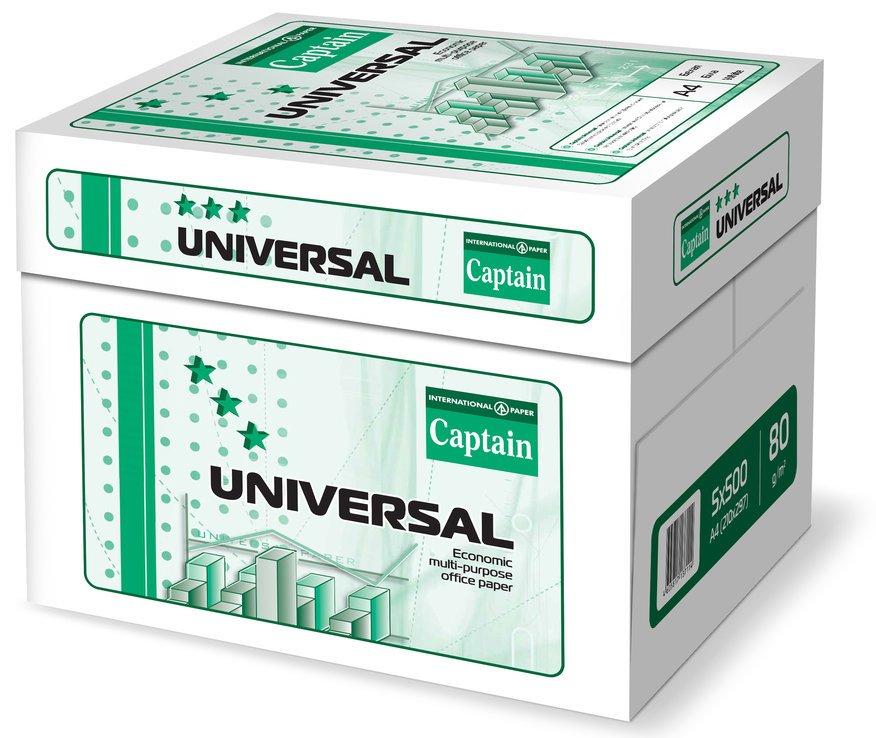 Captain Universal Kopierpapier A4 80g, 2500 Blatt