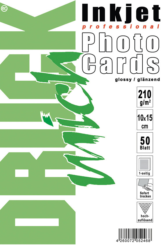 FotoCards, glänzend, 10x15 cm, 210g, 50 Blatt