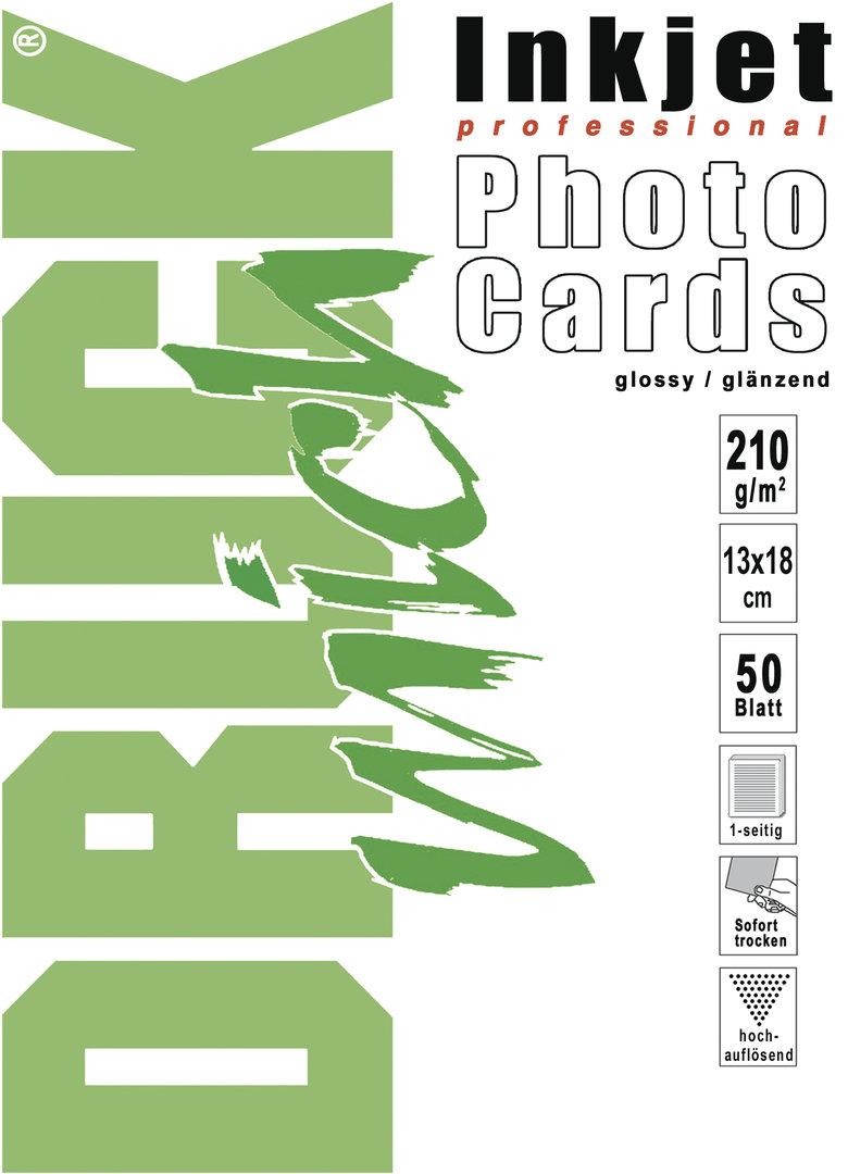 FotoCards, glänzend, 13x18 cm, 210g, 50 Blatt