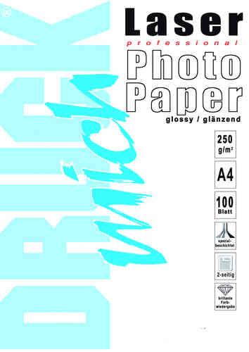 Laser-Fotopapier, A4, 250g, 100 Blatt